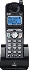 RCA DECT 6.0 Cordless 2-Line Handset Accessory for RCA 2-Line Base Station Black