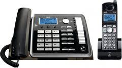 RCA 25255RE2 DECT 6.0 Digital 2-Line Corded/Cordless Expandable Phone Set, Black