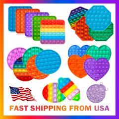 Sensory Kids Pop Fidget Toy Tiktok Stress Relief Silicone Family Bubble Game