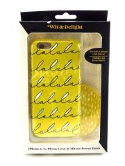 Wit & Delight iPhone 6/6S Case with Mirror Power Bank Yellow LALALALA