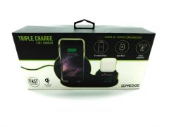 M-Edge 3-In-1 Charge Wireless Dock for Apple - Black