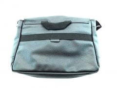 BLANKSLATE by Solo Mens Faux Leather Travel Messenger Bag Black
