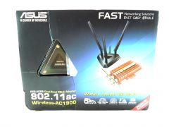 ASUS PCE-AC68 Dual-Band 3x3 AC1900 WiFi PCIe adapter with Heat Sink and base