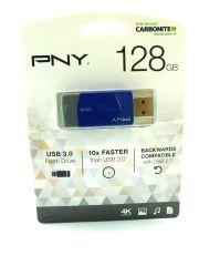 PNY USB 3.0 Flash Drive, 128GB, Blue, P-FD128ELEDGE-GE