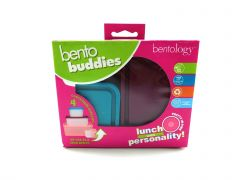 Bentology Snack Buddies - Mini Bento Snack Lunch Box w 4 Portion Containers