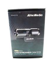 AVerMedia Full HD 1080P Streaming Webcam, Dual Microphone, 360 Degree, (PW313)