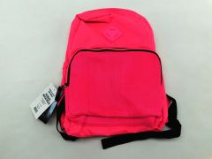Summit Ridge School BackPack Neon Mesh Pocket Black/Pink Peg Position 27