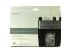 Ativa Shredder Lubricant Sheets For Paper Shredding Office Equipment