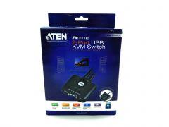 ATEN 2-Port USB VGA Cable KVM Switch with Remote Port Selector CS22U