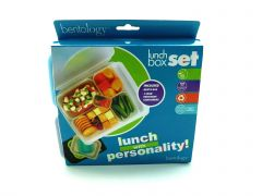 Bentology Leak-proof Bento Lunch Box - 5 Removable Containers, Beach/Multicolor