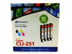 Dataproducts Canon CLI-251 Remanufactured Inkjet Cartridges -Multi Pack Black/Cyan/Magen/Yellow