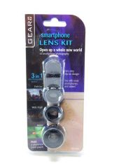 Gear up Smartphone Lens Kit 3 in 1 Interchangeable Lenses