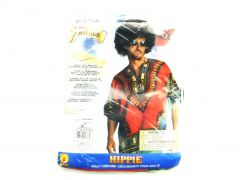 Rubie's Costume Heroes And Hombres Men's Hippie Shirt And Wig, Orange, X-Large