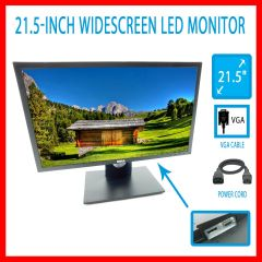 Dell E2216hf Monitor Vga Display Port 21.5 Lcd 1920 X 1080 W/ Stand Widescreen