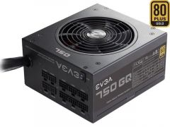 EVGA 750 GQ, 80+ GOLD Certified 750W, Semi Modular, EVGA ECO Mode, Power Supply