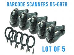 (LOT OF 5) Symbol Motorola DS6878 Barcode Scanner  Wireless Cradle 2D Bluetooth