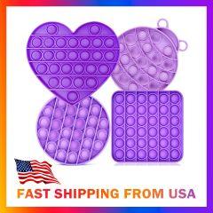 Push Poke Pop Bubble Sensory Fidget antistress washable toy silicone pack of 4