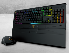 Ares Gaming mouse and Keyboard Combo 7 Color Neon Backlight Ultra Comfort RGB