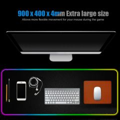 Gaming Mouse Pad RGB LED Light Computer Keyboard Mouse Mat  XXL Extra Large Size