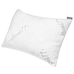 Homitt Shredded Memory Foam Pillow, Washable Cover, Size 20x29 Queen Size White