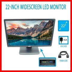 """Dell E2213C 22"""" Widescreen 1680x1050 16:10 TN Backlit LED Monitor VGA DVI 60HZ"""