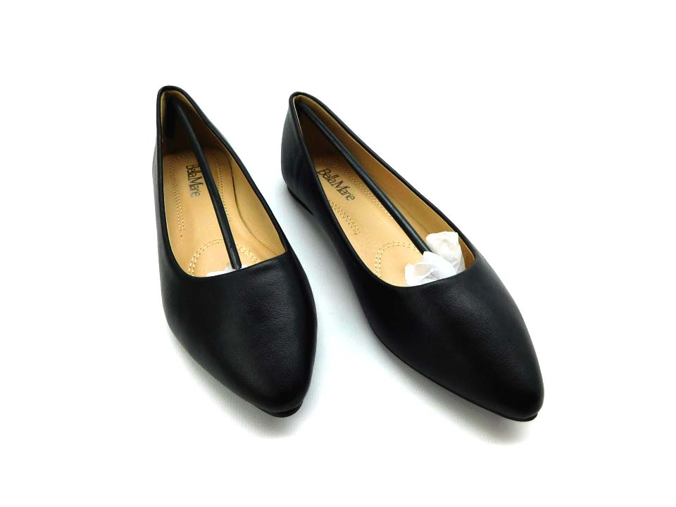 d9a071593ae2f Bella marie angie-52 women's classic pointy toe ballet pu slip on ...