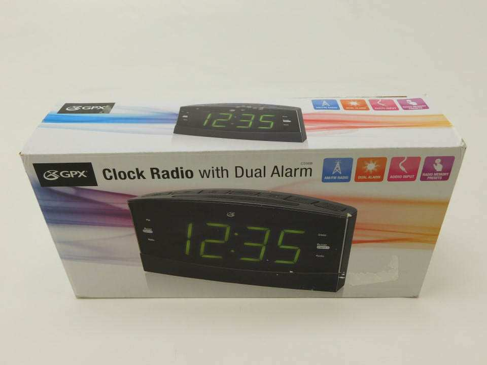 Gpx c336b dual alarm amfm clock radio with 18 led display click on the image below to get zoomed view of the item fandeluxe Gallery
