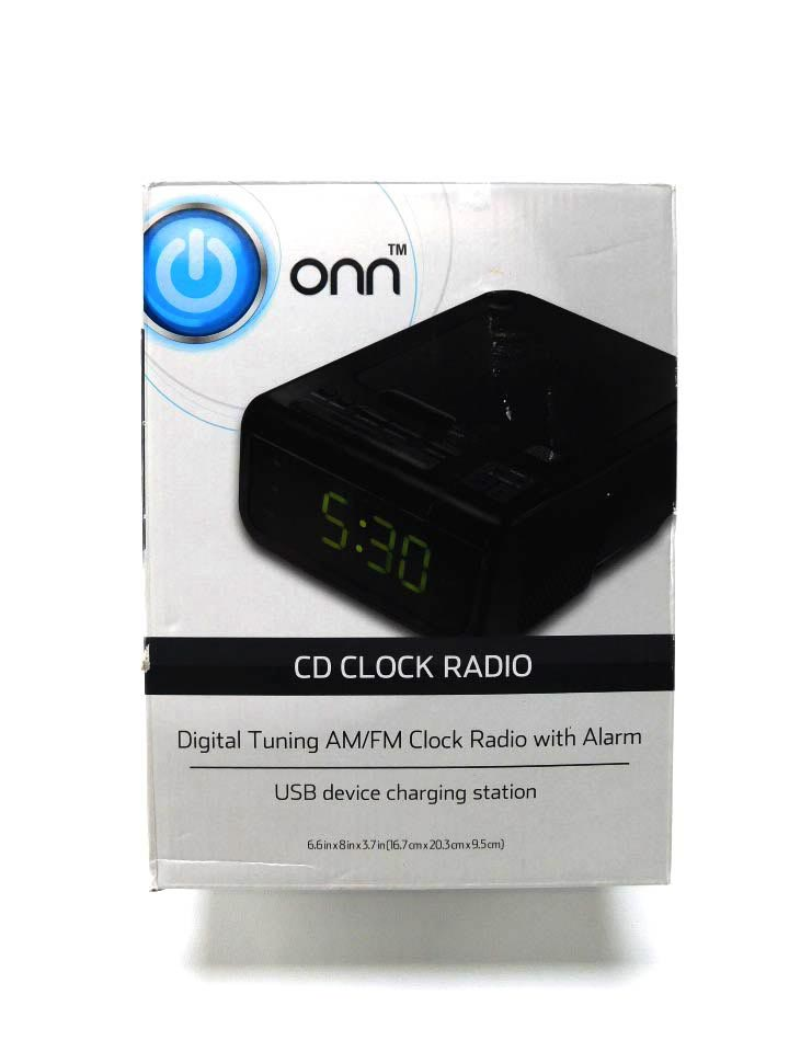 Onn cd clock radio with usb device charging station black onn cd clock radio with usb device charging station black fandeluxe Gallery